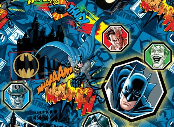 LICENSED BATMAN THE JOKER SUPERHEROS QUILT CRAFT FABRIC ...