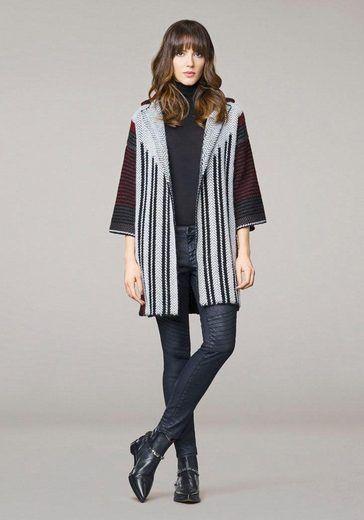Rich & Royal Strickjacke im Kimono-Stil mit schönem Muster und Glitzerfäden