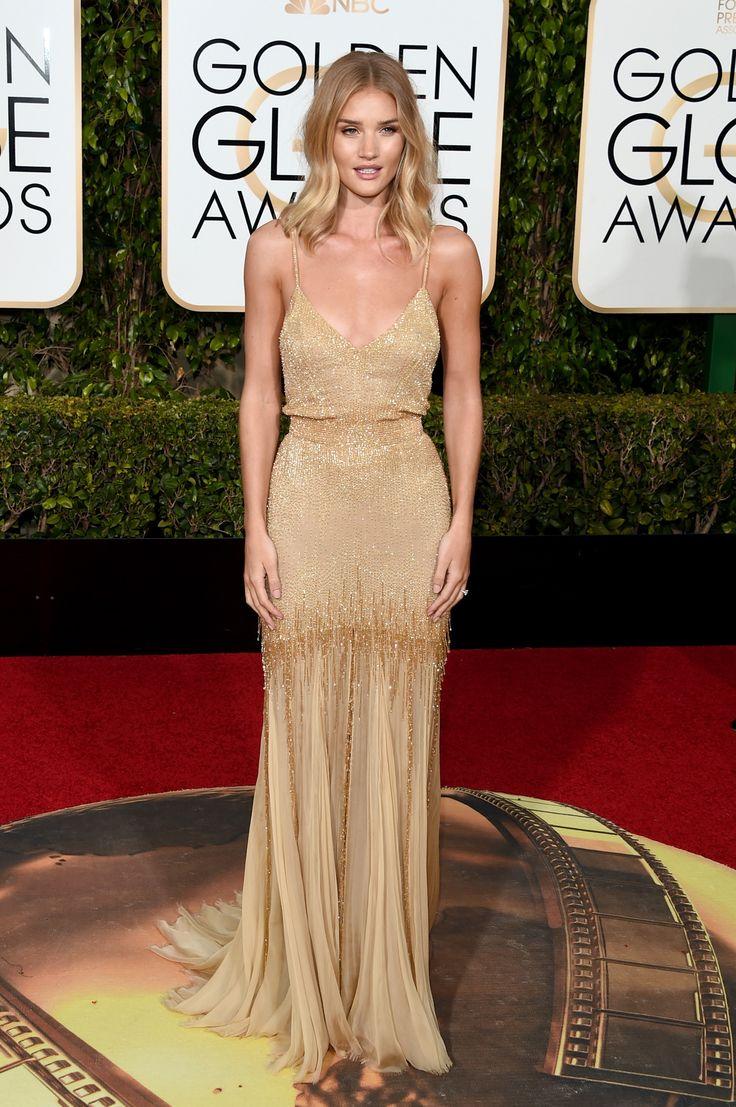 Golden Globes 2016 Red Carpet Fashion | Rosie Huntington-Whiteley