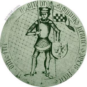 Henryk VIII Młodszy Wróbel - pieczęć piesza (1396)