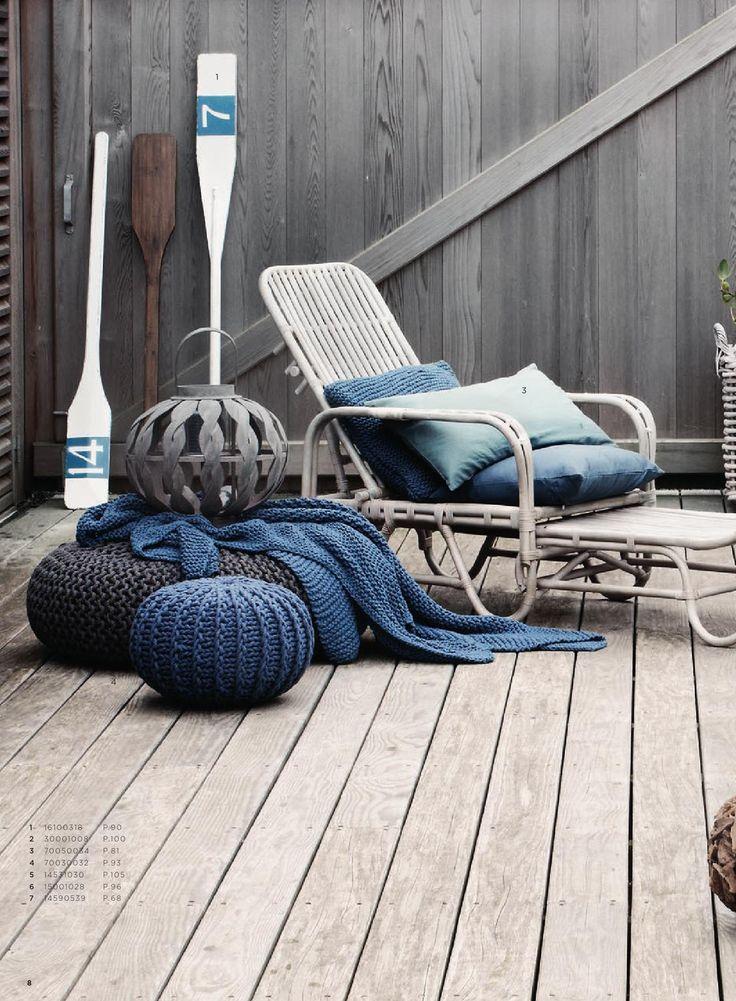 ♂ Neutral home design with indigo blue deco