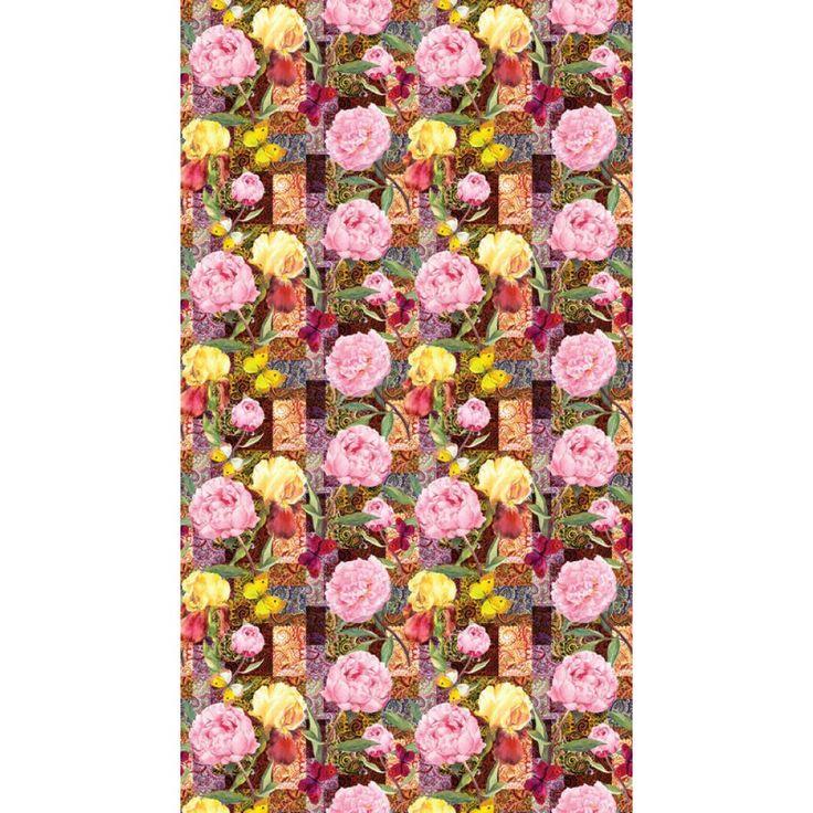 Rózsaszín virágmintás függöny #függöny #rózsa #virág #lakberendezés