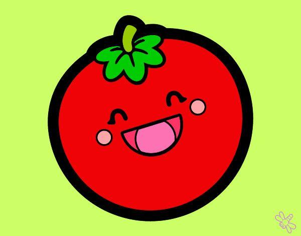 Dibujo de Tomate sonriente pintado por Rutycarela en Dibujos.net ...