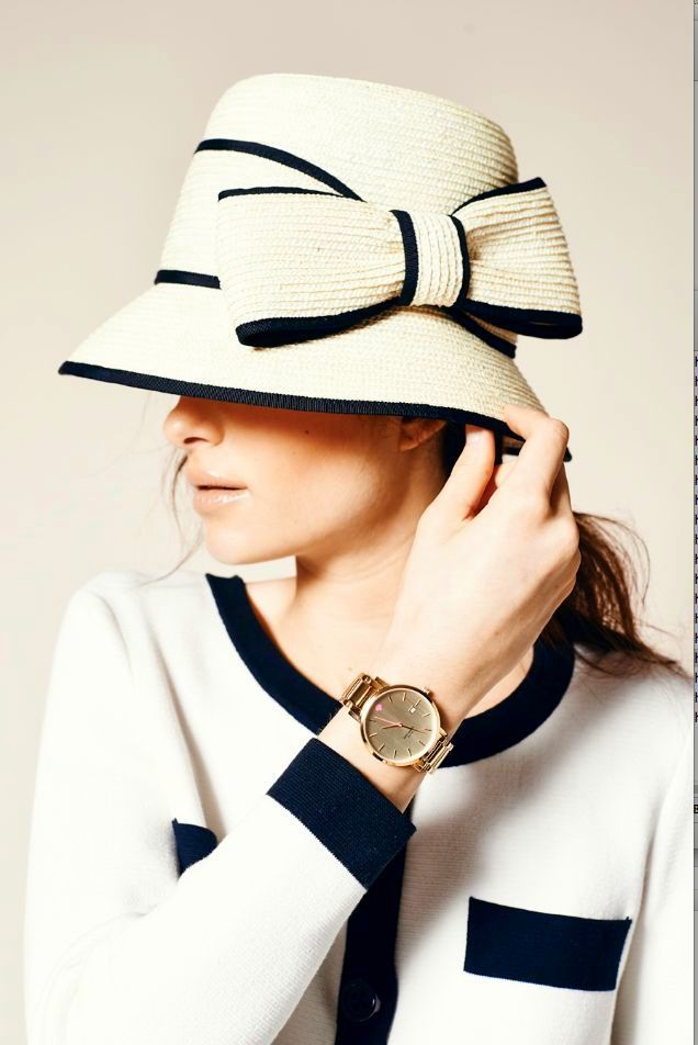 kate spade...want to wear this hat somewhere....if only I lived in downton abbey time period