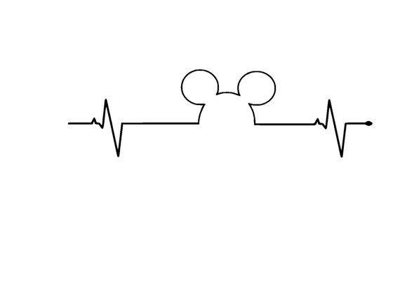 Disney Heartbeat Vinyl Car Decal por MouseMagicVinyl en Etsy