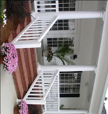 Front Porch Railing Decks Patios And Outdoor Lighting Pinterest Brick Porch Factories