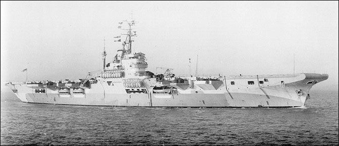 HMS Warrior aircraft carrier profile. Aircraft Carrier Database of the Fleet Air Arm Archive 1939-1945
