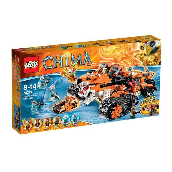 Tigrenes mobile kommandocentral fra Lego Chima. Lego Chima er en spændende action- og kampserie fra Legotil drenge i alderen 7-14 år, som handler om et uberør