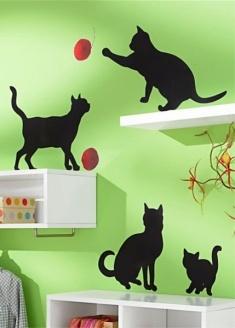 adesivi da parete gatti
