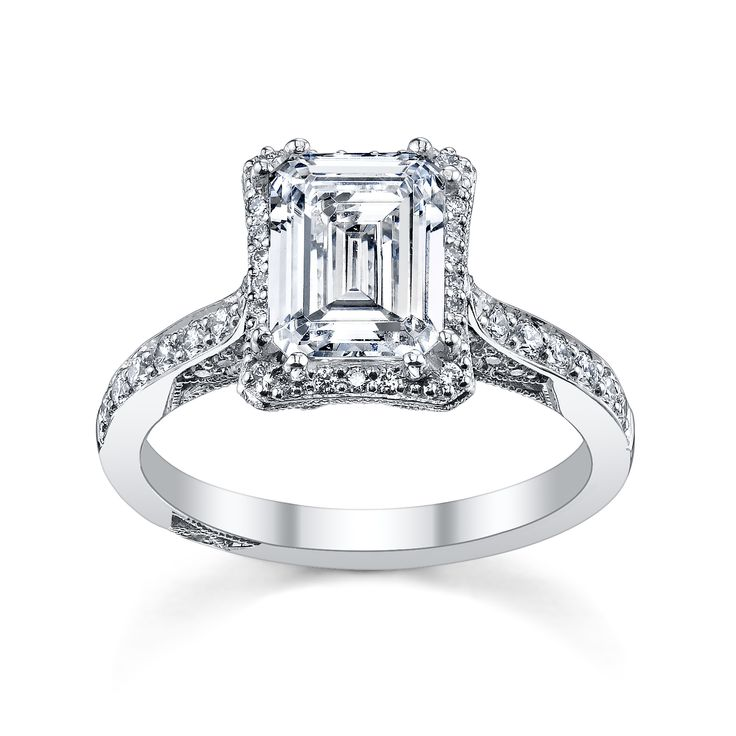 Emerald Cut Engagement Rings Tacori 10
