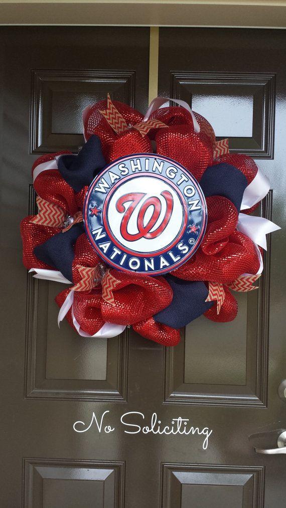 Washington Nationals Wreath Baseball Wreath by CraftyChique06