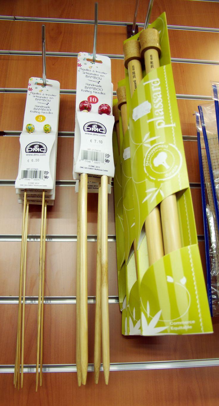 Aiguilles en bambou disponibles au rayon Mercerie de votre magasin Ellen Décoration.