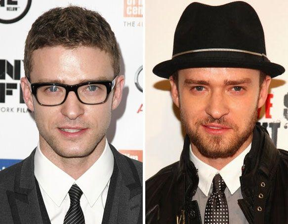 Justin Timberlake, clean shaven or beard?