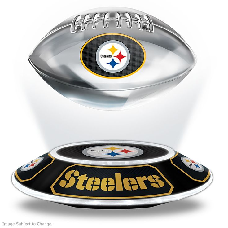 127645001 - Steelers Levitating Football Lights Up And Spins