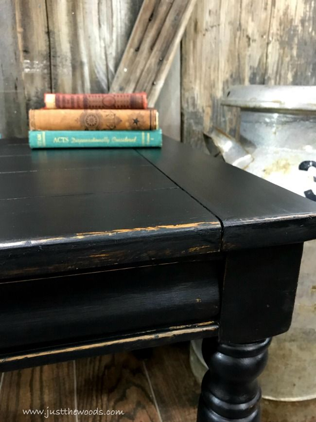 How To Get Farmhouse Style Black Distressed Furniture Black