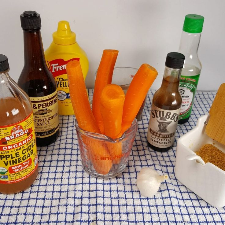 Cast of Ingredients for Pressure Cooker Carrot Hot Dogs Image