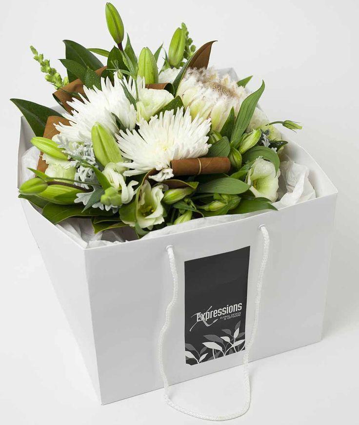 Flower Box White http://www.expressionsfloral.co.nz/ #florist #flowers #bouquets