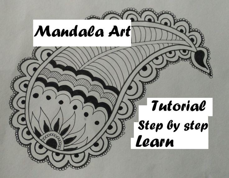 Draw Easy Mandala Leaf Art Design For Beginners, Easy Tutorial Doodle ...