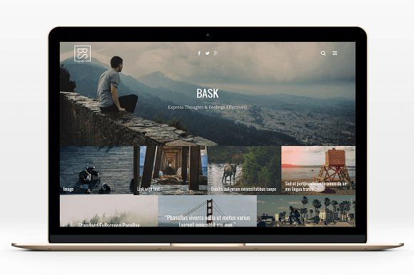 We love the tiling on this.  BASK – A Not Simple WordPress Blog by ThemeAB on @creativemarket