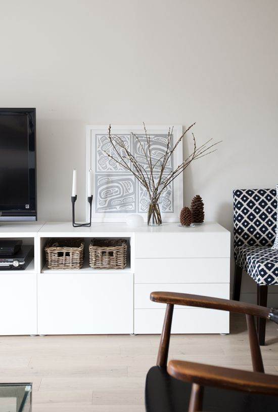 Ikea Besta unit with drawers and door. Nice combination for the tv in our bedroom?