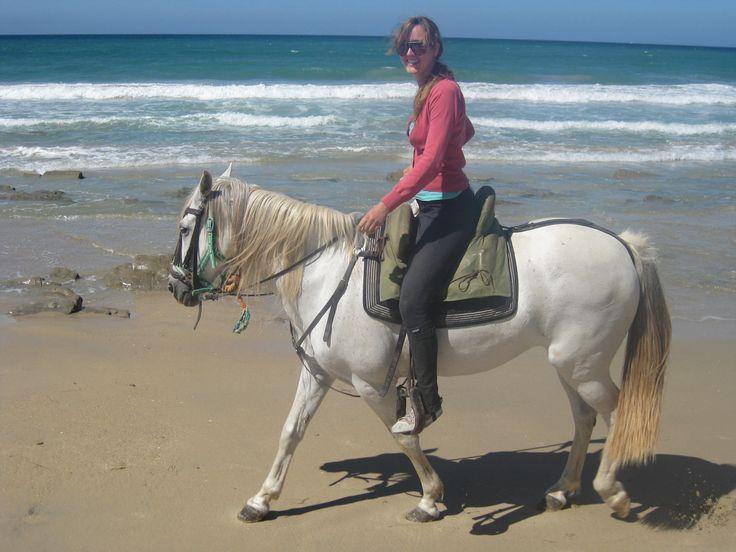 I enjoy adventurous holidays and trips, like exploring the Spanish coastline on horseback.