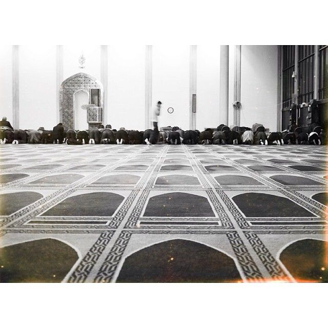 Prayer time in the mosque on Regents Park, London xx