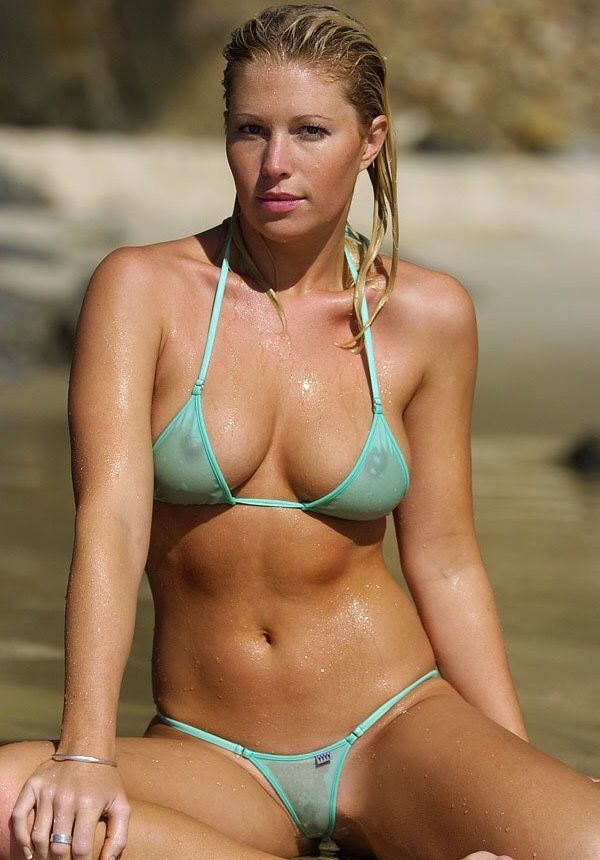 Are not photos of women wearing sheer bikinis