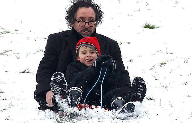 Tim Burton and his son Billy Ray