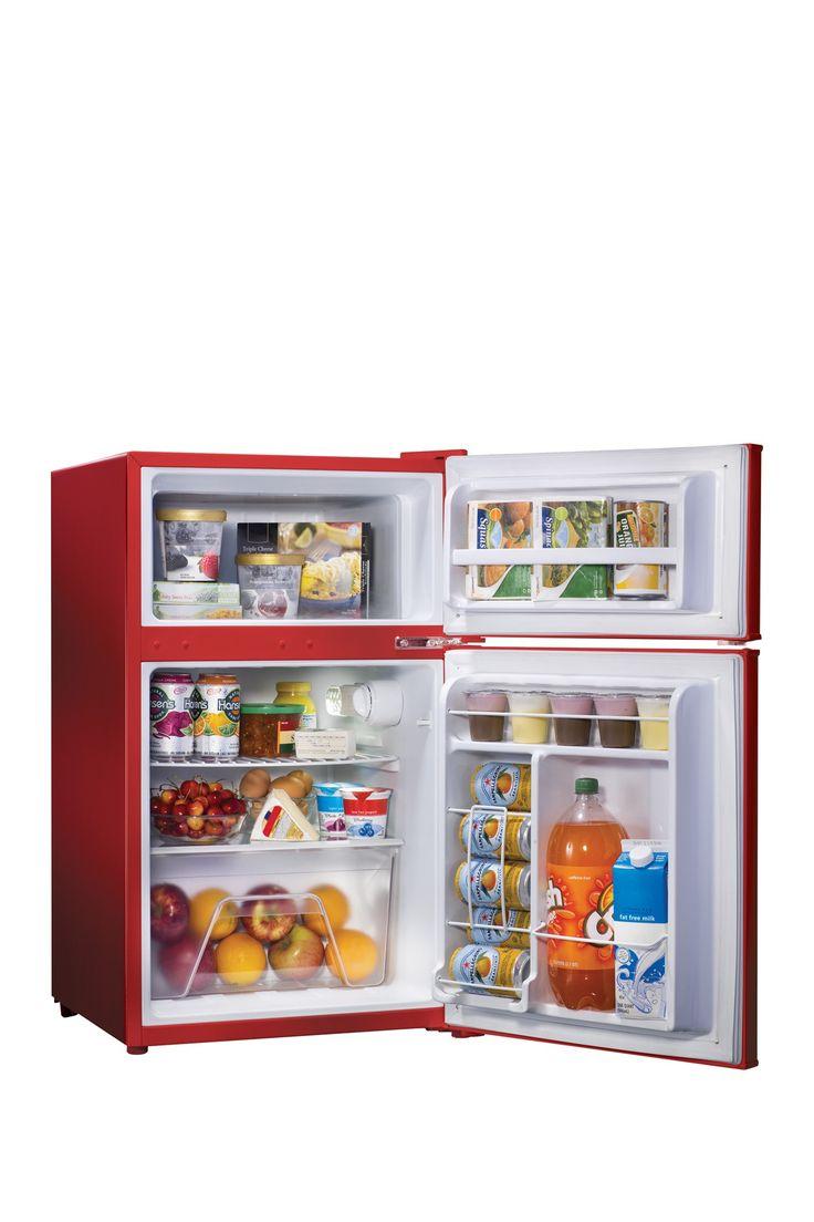 Wonderful Nostalgia Electrics Retro Series 31 Cubic Foot Red Compact Refrigerator  Freezer On @HauteLook Part 16
