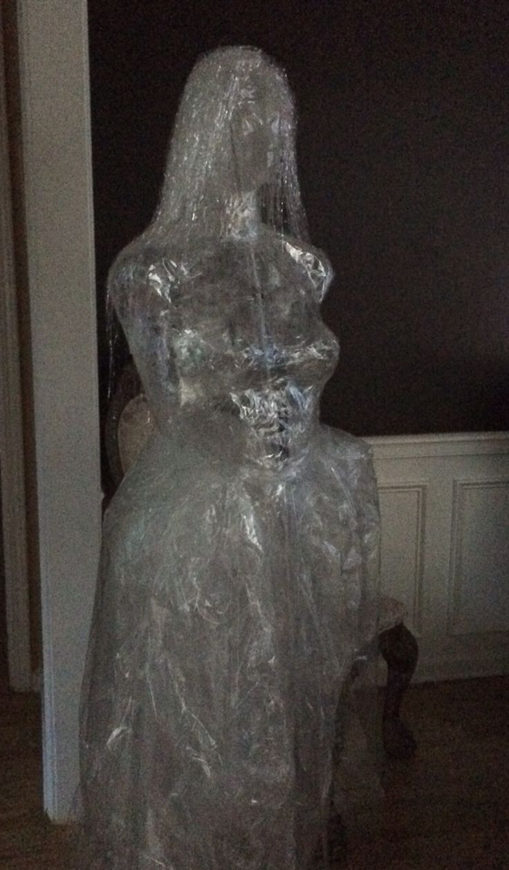 First Attempt At Packing Tape Ghost Halloween For Grown