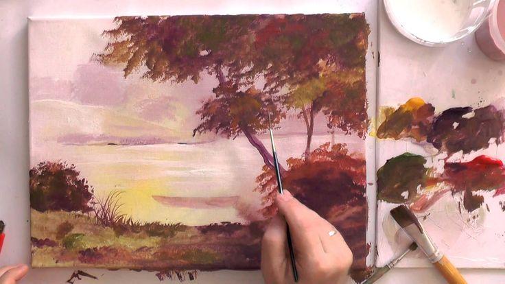 Рисуем акриловыми красками.  Новое утро.