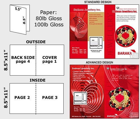 8.5 x 11 Brochures Printing - offers finest class 8.5 x 11 brochure designs and complete printing solutions.