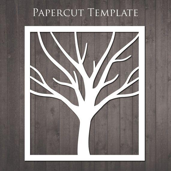 Baum Papercut Vorlage  diy Papier Ausschneiden von RubyAndTheRabbit