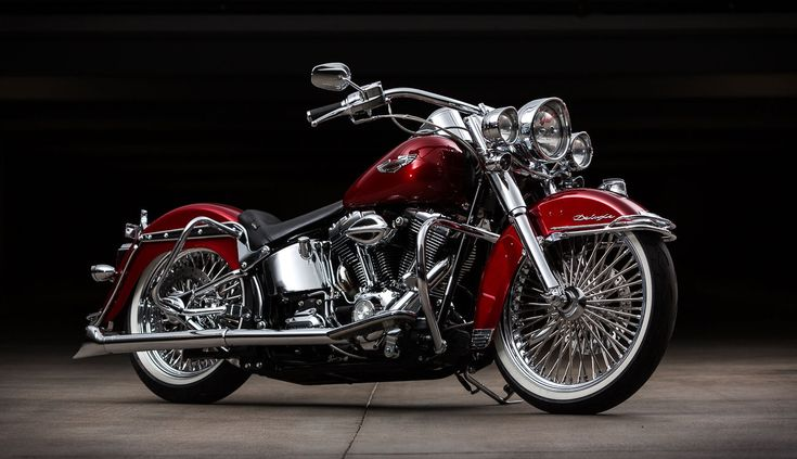 2008 Heritage Softail Deluxe Cholo Style Gear Head On