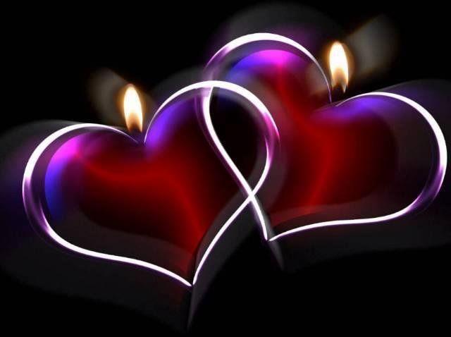 Zwei glühende Herzen
