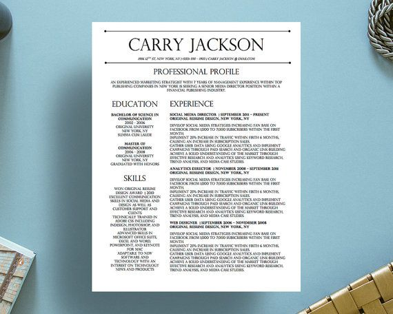 8 Best Carry Jackson Resume Template Images On Pinterest | Resume