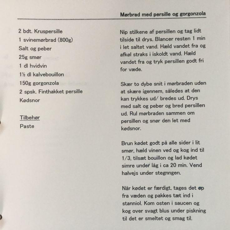 Mørbrad med gorgonzola