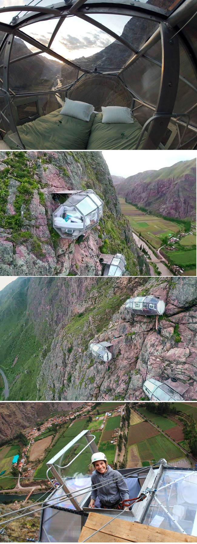 Peru - Hanging Hotel You Rock Climb Up to and Zip-line Down From… looks like so much fun!