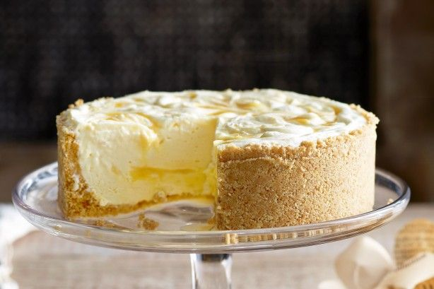 Lemon ripple cheesecake- This cake will cause a ripple of delight when it is served.