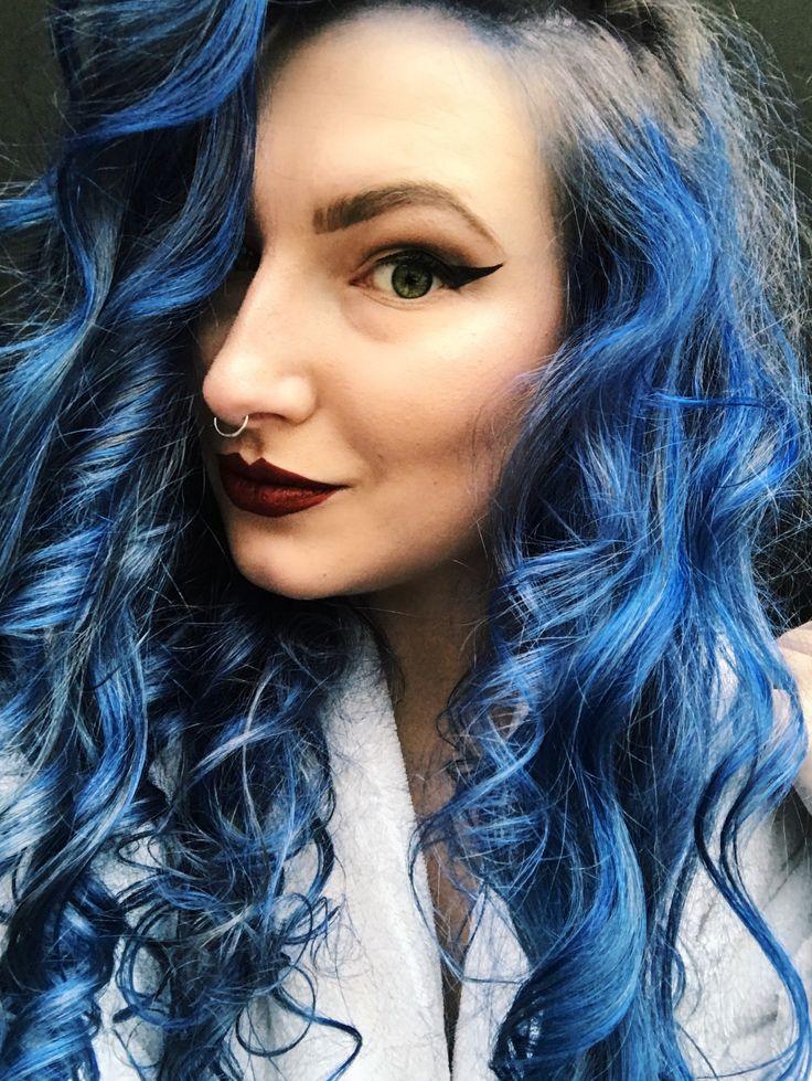 Manic panic shocking blue and blue steel mixed   Instagram @bloodali_