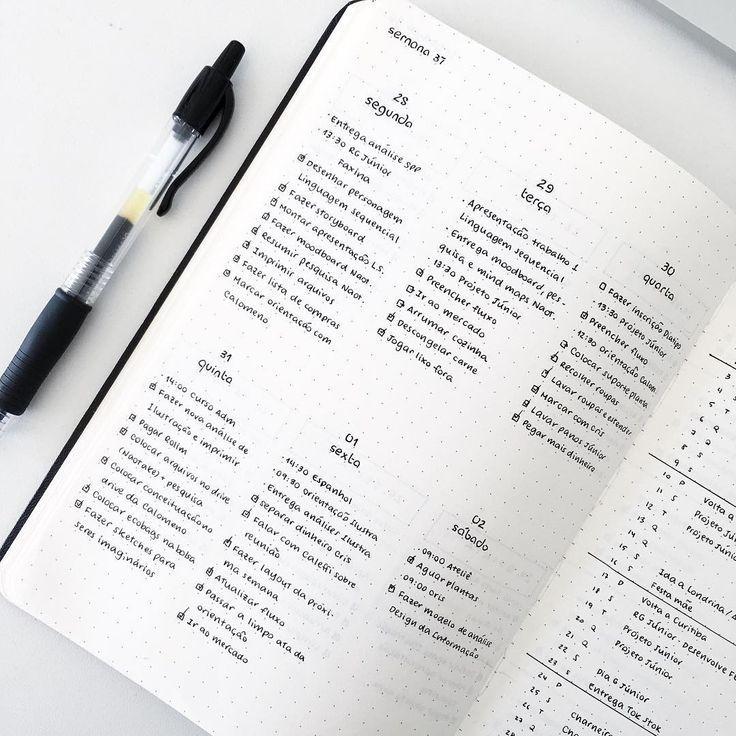32 Einfache Minimalist Bullet Journal Wöchentlich…
