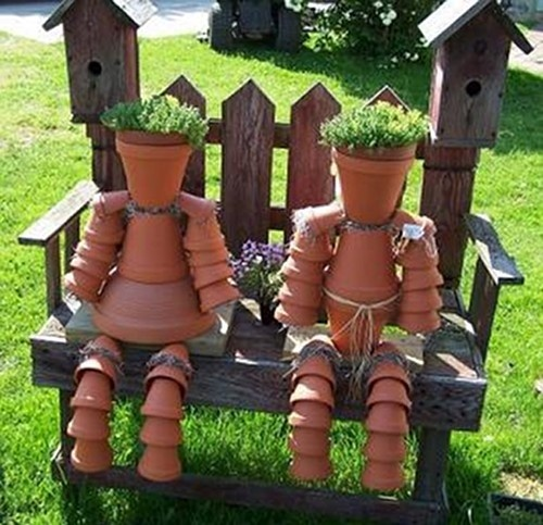 Pot PeoplePots Couples, Gardens Ideas, Terra Cotta, Gardens Design Ideas, Claypot, Cotta Can, Flower Pots People, Crafts, Clay Pots People