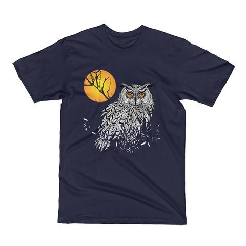Owl Bird Head as Halloween Symbol Men's Short Sleeve T-Shirt