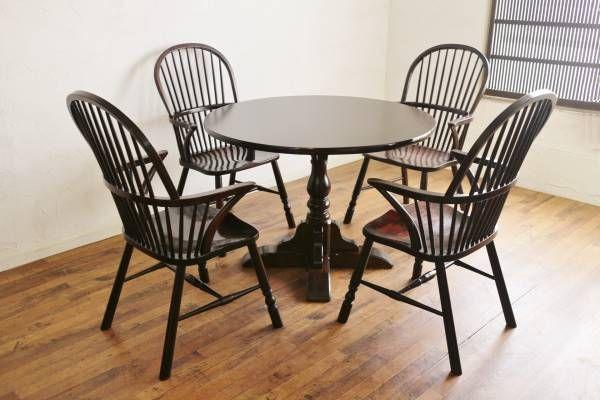 xvpbvx               美品 松本民芸家具 ダイニング セット 円卓 丸 ラウンド テーブル 509C型 ウィンザーチェア 椅子 4脚 刻印有 商品説明 松本民芸家具 ダイニングセットのご紹介です。日本の和家具と洋家具との本格的な結合、使う人それぞれが使い込むほどに昧わい深く、愛着をもって使うことができる、日本を代表する高級家具メーカー、松本民芸家具。材質にはミズメザクラ無垢材を使用。落ち着いた深い色合いと一流の風格が漂う趣きある佇まいが魅力です。■コンディション円卓、ウィンザーチェア×