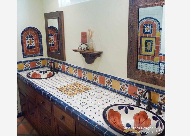Ideas de dise o de ba o y cocina de azulejos mexicanos de for Azulejos de cocina de loza