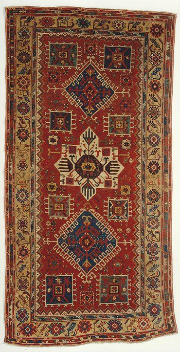 ALADAĞ (mountainous region in the north of the Adana province) rug, 18th century.  145 x 285 cm.