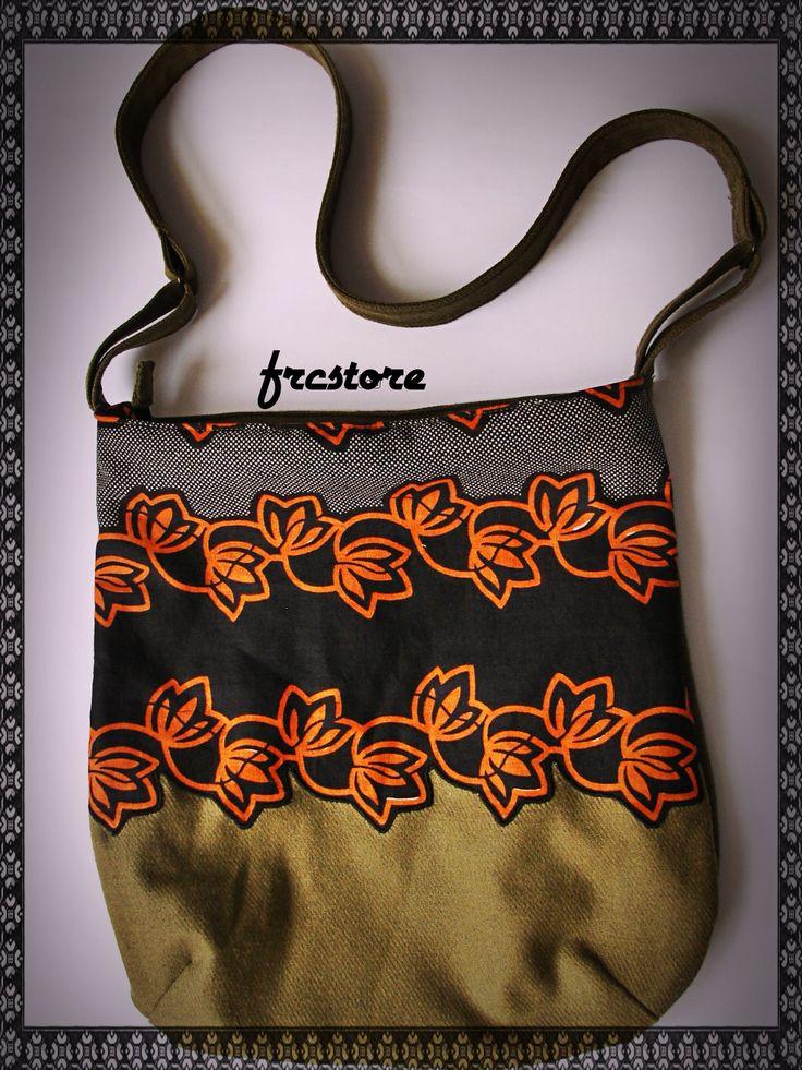 Khaki handmade bag www.frcstore.cz