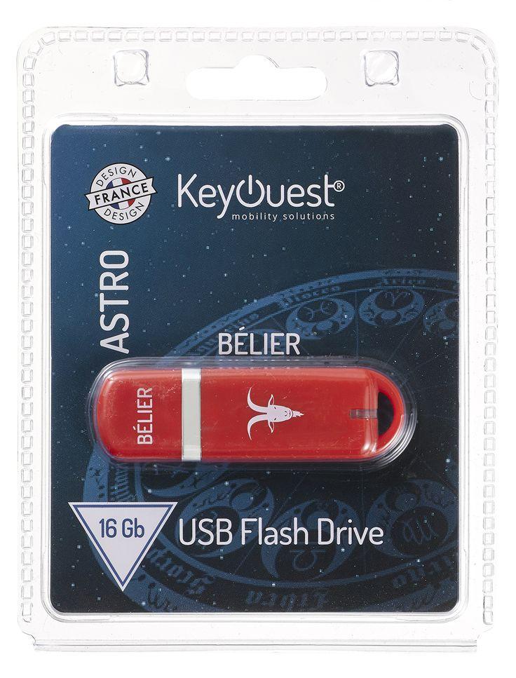 Packaging clé USB 16 Go ASTRO Bélier - KeyOuest http://www.keyouest-mobility.com/produits/cle-usb-16-gb-astro-belier-keyouest/