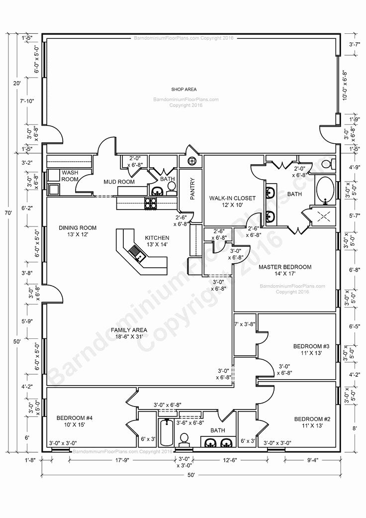 30x50 Metal Building Home Beautiful Steel Home Floor Plans Elegant Plans Furthermore 30 X 50 H Metal House Plans Pole Barn House Plans Barndominium Floor Plans