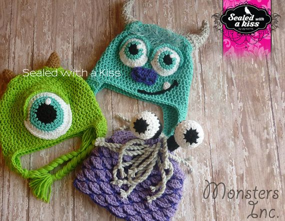 Sully Monsters Inc. hat Sully hat Monster by SWAKLovelyHandmade